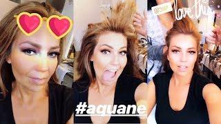 Thalía Se Divierte Mientras Se Hace El Pelo Y El Maquillaje Aug 20-21, 2018