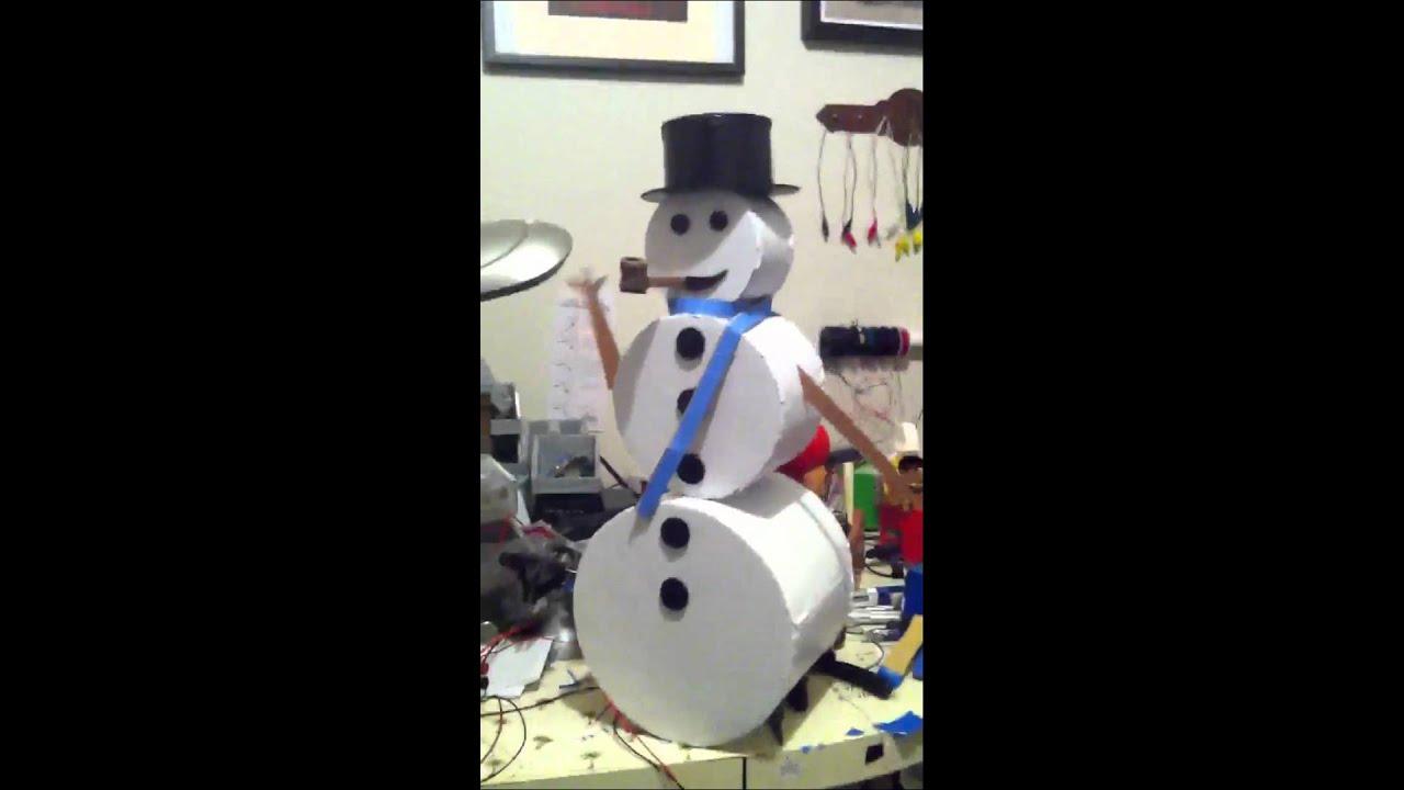 cardboard snowman youtube. Black Bedroom Furniture Sets. Home Design Ideas