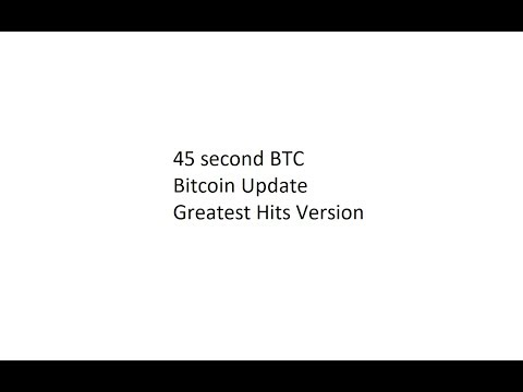 45 second BTC Bitcoin Update - Greatest Hits Version