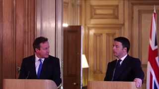 David Cameron and Matteo Renzi press conference April 2014