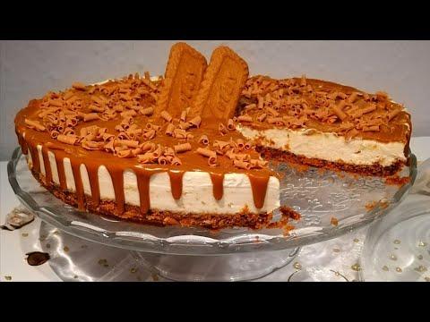 ألذ-تشيز-كيك-ممكن-تجربوها(تشيز-كيك-اللوتس)-بأسهل-طريقة-cheesecake-lotus-(speculoos)-sans-cuisson