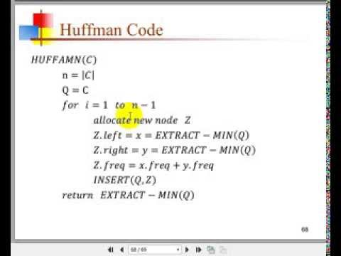 Huffman coding-Algorithms - YouTube