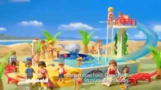 Family Caravan 5434 & Childrens Pool With Whale Fountain 5433 Rc Crane 5466 & Dump Truck - Playmobil