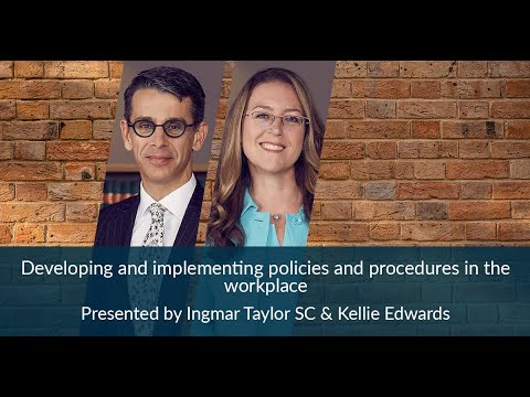 Developing And Implementing Policies And Procedures In The Workplace