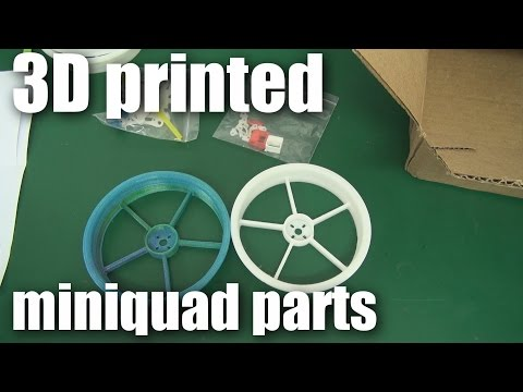 Product arrival: 3D printed parts for mini-quadcopters