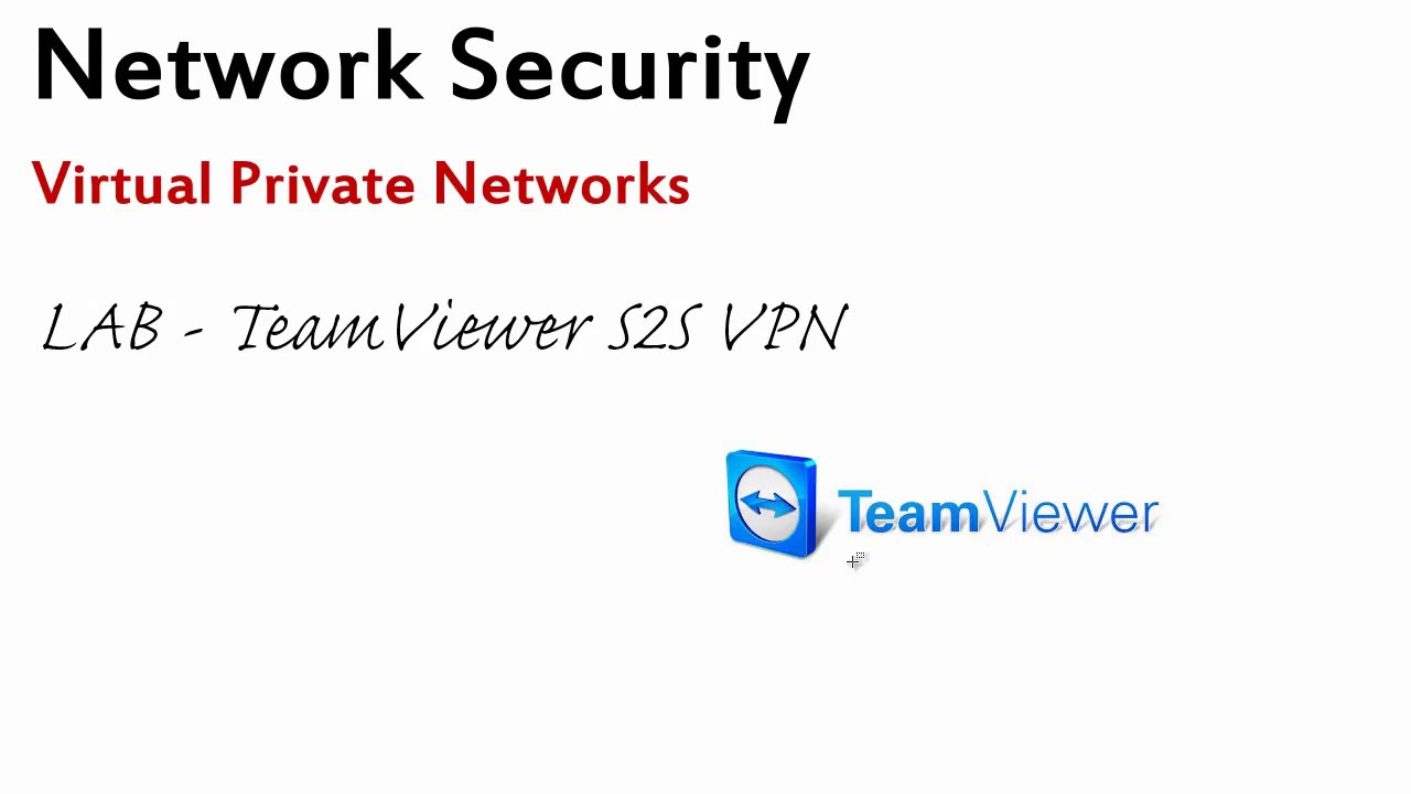 Creating a VPN connection using Teamviewer software