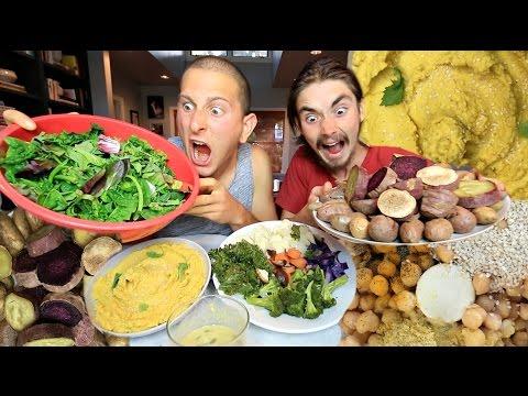 Homemade Turmeric Hummus and Potatoes • MUKBANG (Eating Disorder Talk)