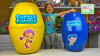 World's Biggest Bubble Guppies Surprise Eggs! Nickelodeon Toys