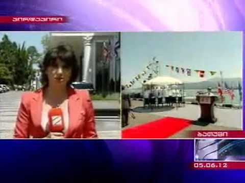 U S  presents Georgian Coastal Guards with boats