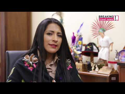 Breaking Travel News interview: Wilma Alanoca Mamani, minister of tourism, Bolivia (Spanish)