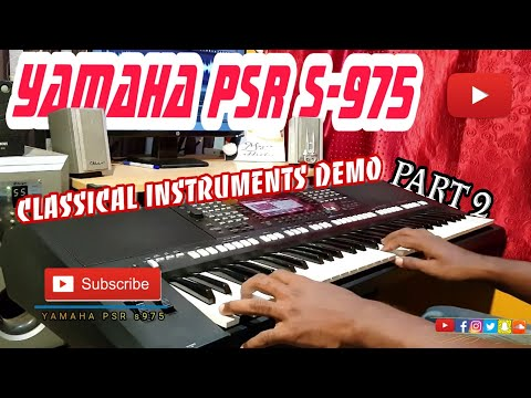 Yamaha PSR S975 | Indian classical instruments Demo | Part 2