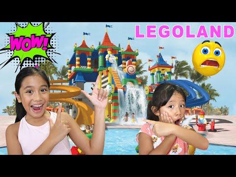 LEGOLAND Waterpark Dubai SCARY Water Slides Lego Wave Pool Kids Themepark Adventure Family Video