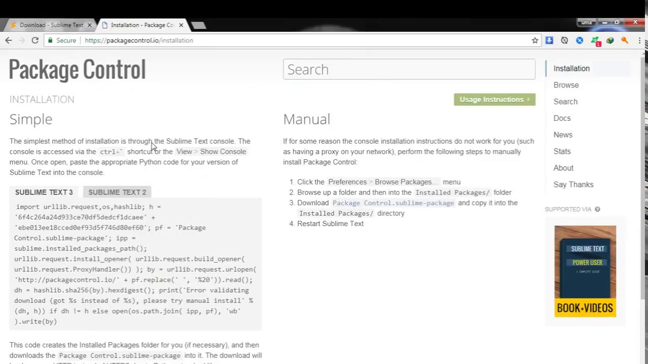 Install Sublime Text 3 Easily !! and Package control