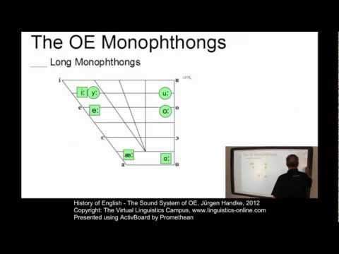 History of English - The Sound System of OE