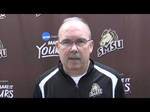 Coach Terry Culhane after SMSU's win over Sioux Falls
