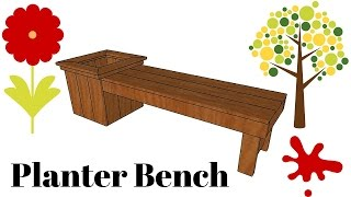 FULL PLANS at: http://www.howtospecialist.com/outdoor-furniture/diy-planter-bench-plans/ ▻ SUBSCRIBE for a new DIY video