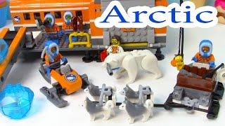 Arctic Base Camp Playset Lego City Snow Ice Crystals Polar Bear Husky Dogs Sled Cookieswirlc