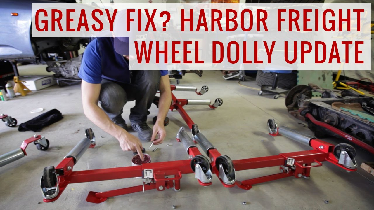 greasy fix harbor freight wheel dollies update product review youtube. Black Bedroom Furniture Sets. Home Design Ideas