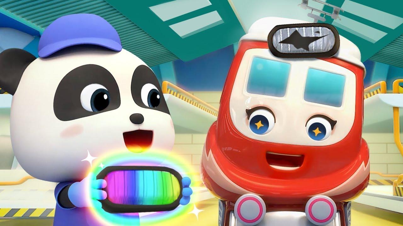 小火車受傷了 奇奇妙妙修理員來幫忙 | 交通工具兒歌 | 卡通 | 動畫 | 寶寶巴士 | BabyBus