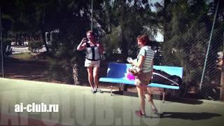 Обучение игре в большой теннис на отдыхе.