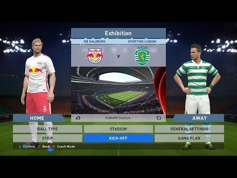 RB Salzburg vs Sporting Lisbon, Red Bull Arena, PES 2016, PRO EVOLUTION SOCCER 2016, Konami