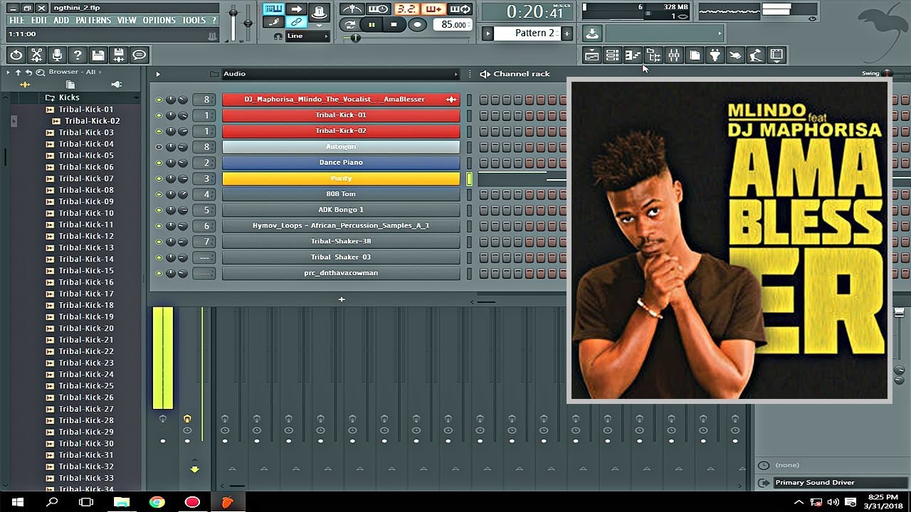 AmAblesser Type Beat in FL Studio DJ Maphorisa Mlindo The Vocalist #1