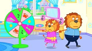 Lion Family Wheel of Fortune Gift Sector Cartoon for Kids