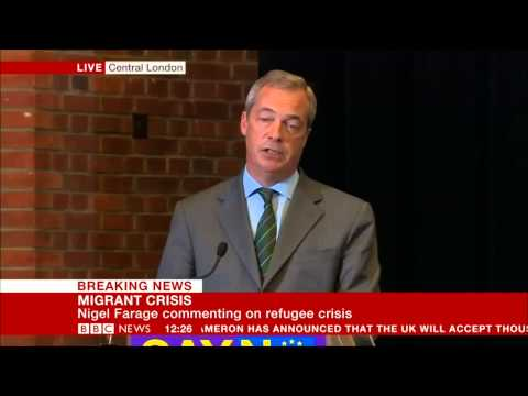 Nigel Farage on the migrant crisis