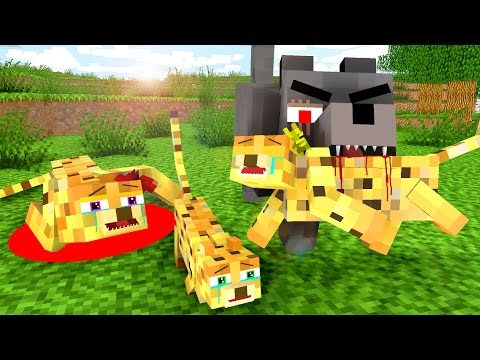 Ocelot Life 3 - Craftronix Minecraft Animation - Видео из Майнкрафт (Minecraft)