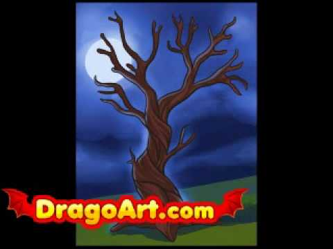 How To Draw A Dead Tree Step By