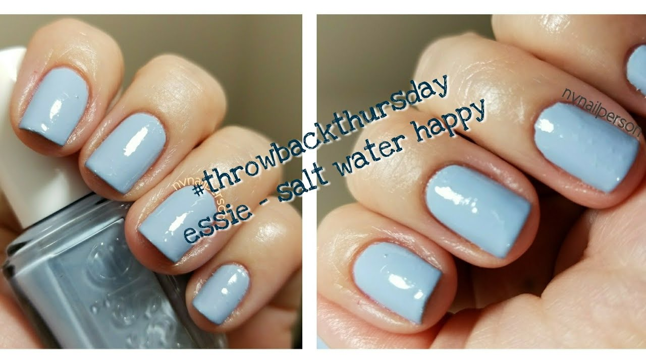 Nail Polish of the Day | #tbt | Essie Summer 2015 | Salt Water Happy ...