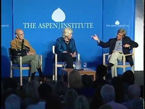 Ellen Susman introduces talk at Aspen Institute