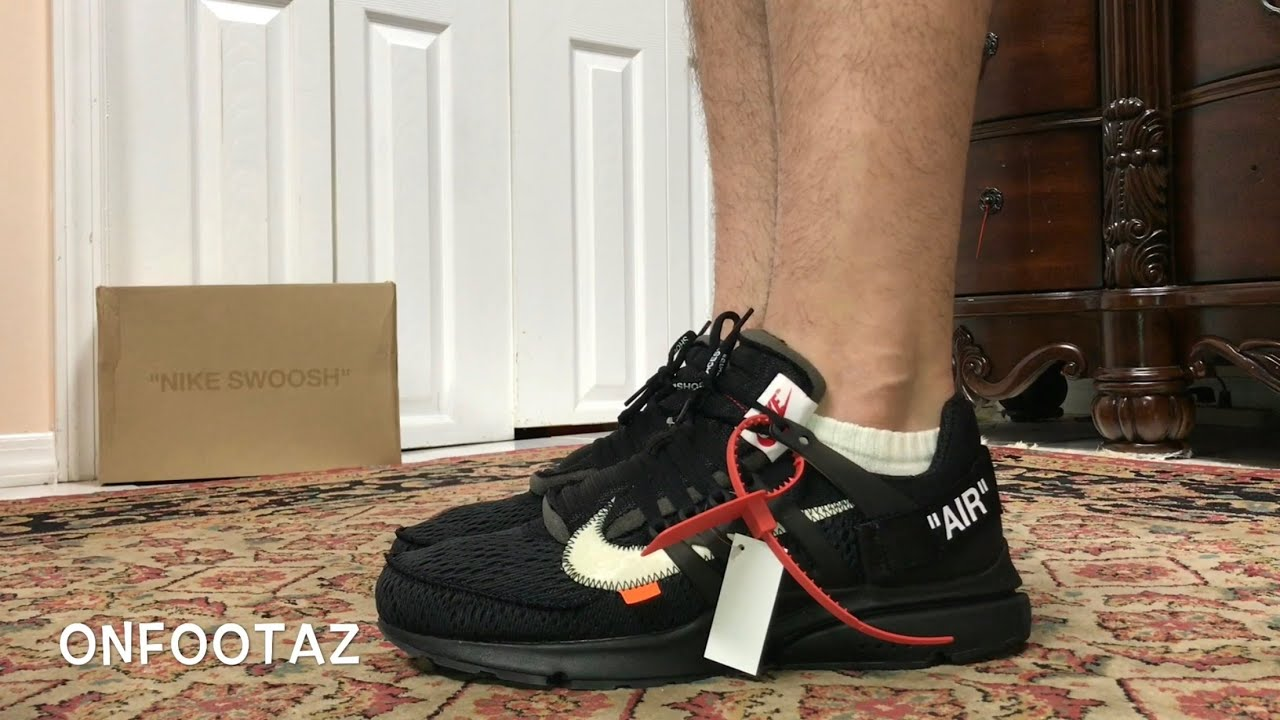 black off white presto on feet