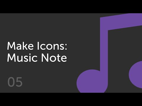 How to Make a Music Note Icon  | Make Icons 05