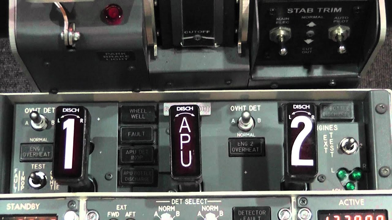 Overhead Aircraft Engine Control Lever : Sim fire protection panel test youtube