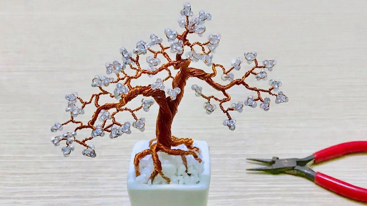 Bonsai Handmade How To Make Mini Bonsai Tree Wire Copper 02 Youtube