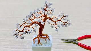 [Bonsai Handmade]How To Make Mini Bonsai Tree Wire Copper 02