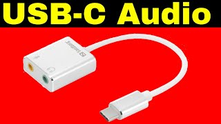 USB-C Audio Adaptor  and USB-C Sound Link by Sandberg Review