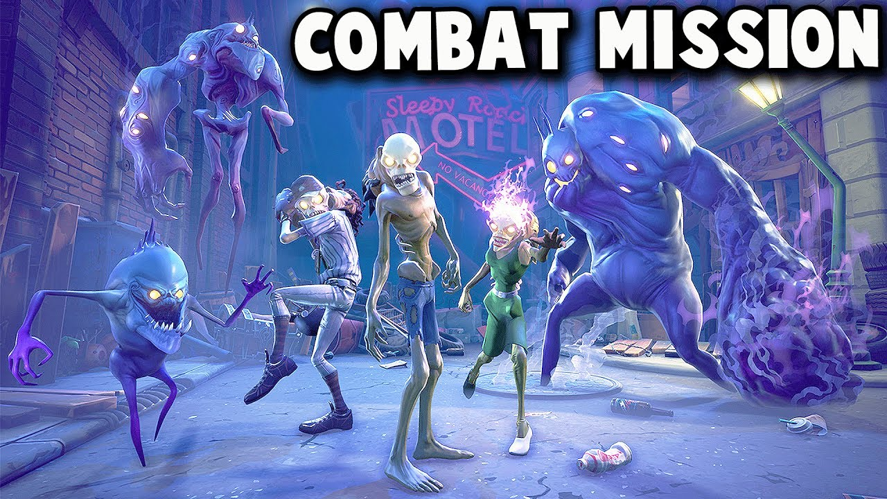Fighting Zombie Hordes All The Monsters Attack Fortnite Save The