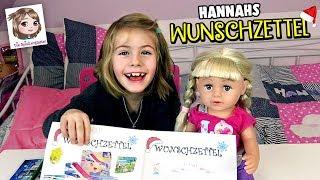 WUNSCHZETTEL einer 6-Jährigen 🎅🏼 Hannah & Baby Born schreiben an den Weihnachtsmann