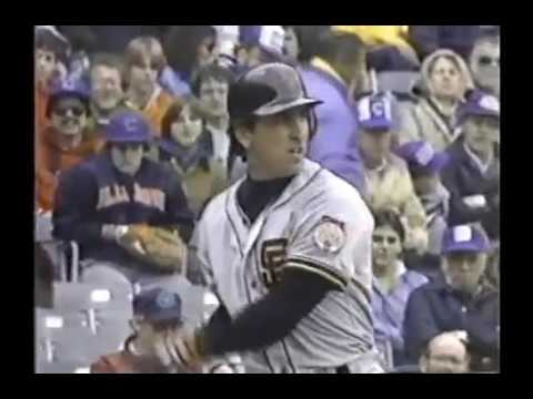 1984 MLB. San Francisco Giants vs Chicago Cubs