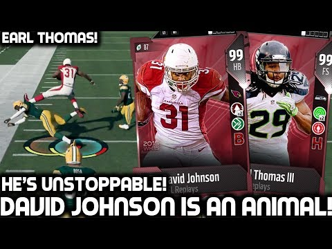 DAVID JOHNSON IS UNSTOPPABLE! EARL THOMAS! Madden 18 Ultimate Team
