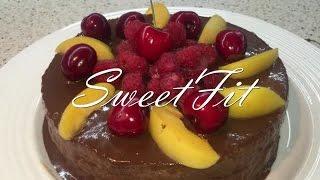 Диетический торт Захер. Фитнес выпечка. Dietetic cake Sacher.