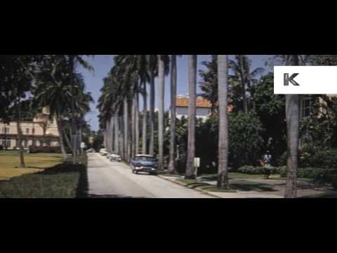 1960s Palm Beach, Florida, Street Scenes, 16mm Colour Home Movies