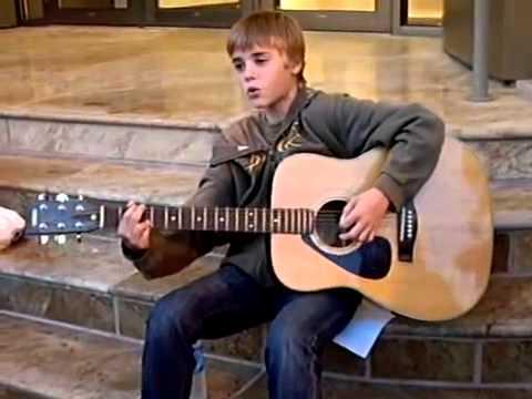 Young Justin Bieber Singing - Accoustic Guitar - YouTube  Young Justin Bi...