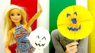 Хэллоуин для Барби. Как сделать тыкву и приведение своими руками