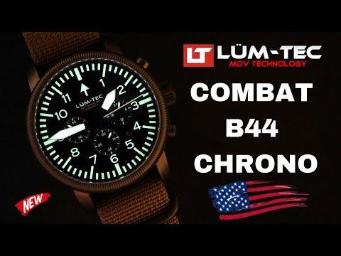 LUM-TEC COMBAT B44 MILITARY CHRONO MEN'S WATCH REVIEW (2019)