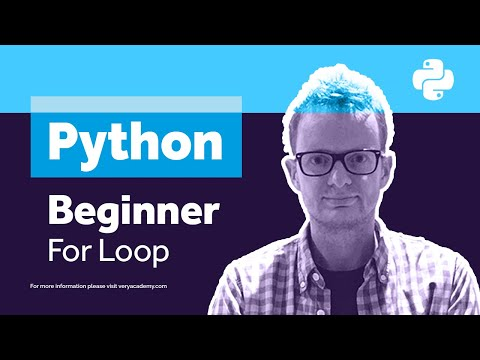 Learn Python - Python Class for Beginners - For Loops