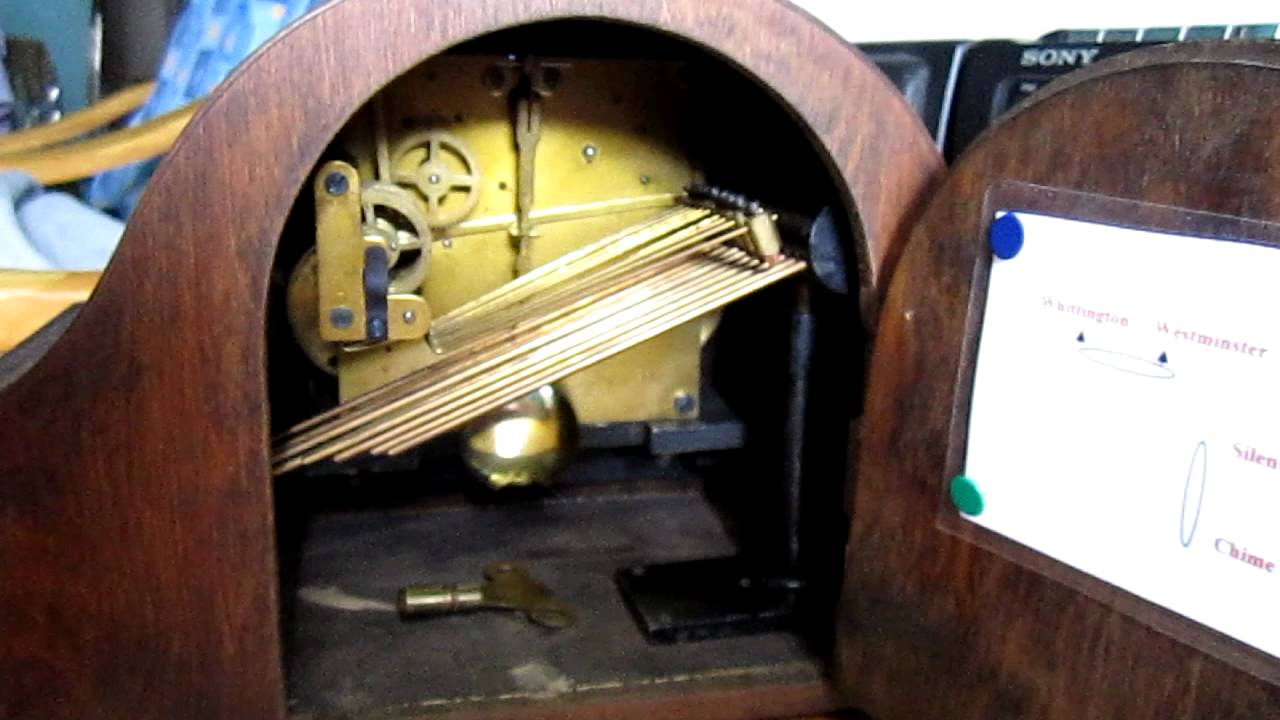 Urgos Westminster Chime Mantle Clock (back)