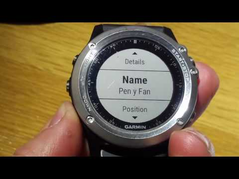 Garmin Fenix 3: Navigation-Getting Map Coordinates